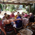 lunch party, Bastide